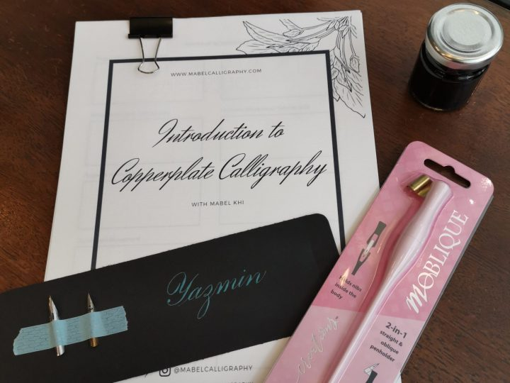Basic tools to get started with Copperplate Calligraphy