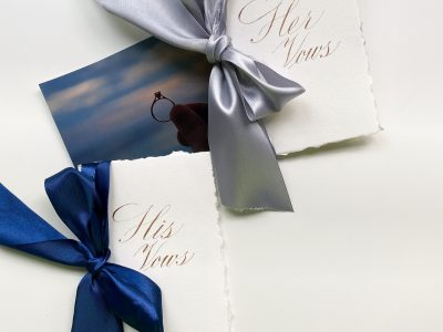 Wedding vow book for his & hers